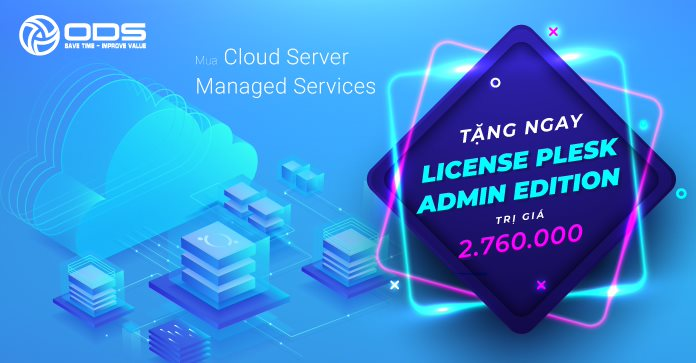 Tặng ngay License Plesk Admin Edition khi mua Cloud Server Managed Services