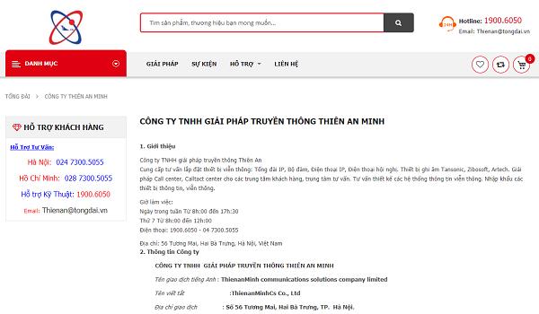 Thiên An Minh là cái tên nổi bật về cung cấp giải pháp truyền thông cho doanh nghiệp