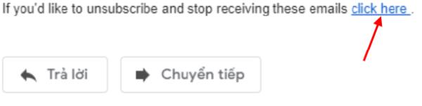 Click Here để hủy đăng ký và ngừng nhận Email