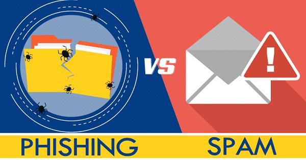 Phishing và Spam Email tuy có nét tương đồng nhưng hoàn toàn khác nhau