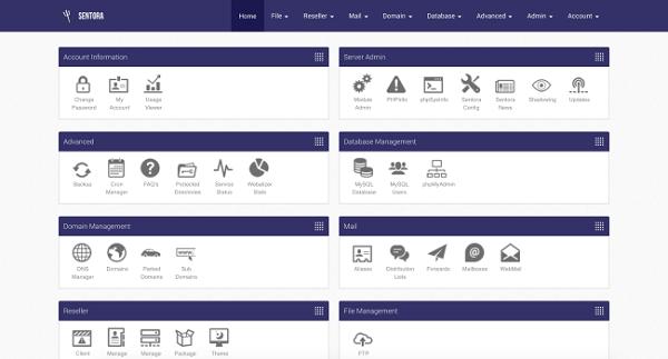 Sentora là chương trình mã nguồn mở hỗ trợ quản lý Hosting hoàn toàn miễn phí