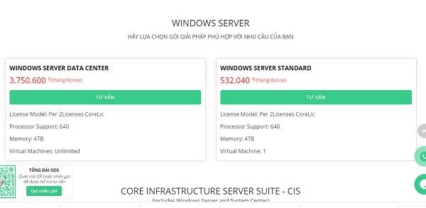 ODS mang đến các sản phẩm windows server của Microsoft